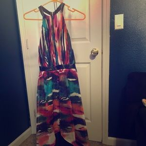 Beautiful colorful  abstract dress